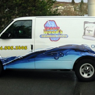 Vehicle wraps are a very effective way of promoting your business. Just make sure the concept reflects your business.
