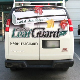 Rear windows can be covered with perforated vinyl so you can still see out of them!