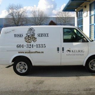 Cut vinyl van lettering and graphics are cost effective.
