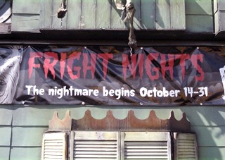 3' x 10' Vinyl banner for the PNE's Fright Night.