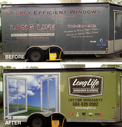 We can apply permanent vehicle graphics including full color text logos photos vinyl lettering vehicle wraps or magnetic signs on your vehicles in