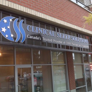 Solid 3-D PVC letters mounted on aluminum backing and installed on site.