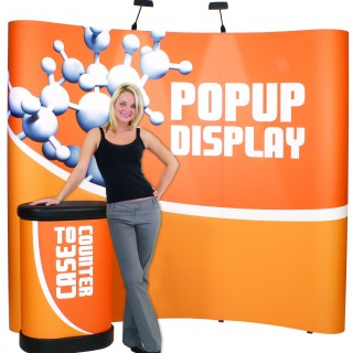 Pop up displays look great and are easy to transport. All graphics are interchangeable.