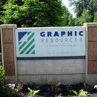 Concrete & Tile Entrance sign.