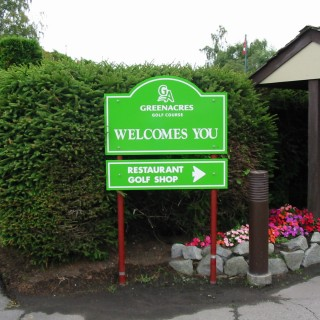We produced all the wayfinding signs for Green Acres Golf club.