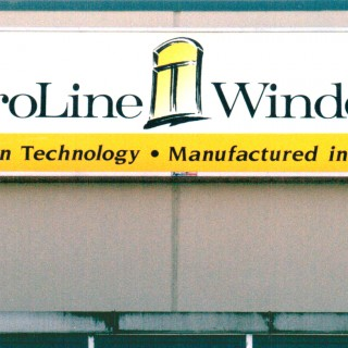 4' x 16' Illuminated sign installed on building face.