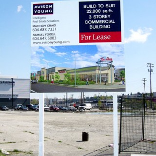 6' x 6' Crezon plywood sign for development site.
